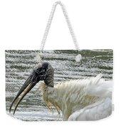 The Bathing Wood Stork 2 Weekender Tote Bag
