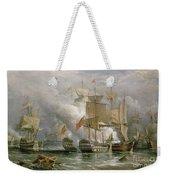 The Battle Of Cape St Vincent Weekender Tote Bag by Richard Bridges Beechey