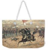 The Battle Of Cedar Creek Virginia Weekender Tote Bag by Thure de Thulstrup
