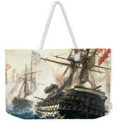The Battle Of Lissa Weekender Tote Bag by Constantin Volonakis