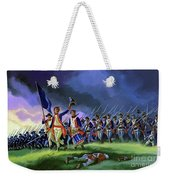The Battle Of Saratoga, Showing A General Attack Led By Brigadier Arnold Weekender Tote Bag