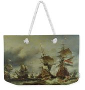 The Battle Of Texel Weekender Tote Bag by Louis Eugene Gabriel Isabey