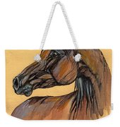 The Bay Arabian Horse 10 Weekender Tote Bag