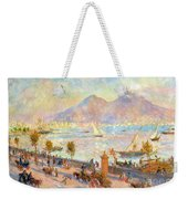 The Bay Of Naples With Vesuvius In The Background Weekender Tote Bag