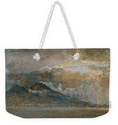 The Bay Of Naples With Vesuvius Weekender Tote Bag