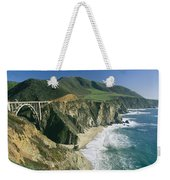 The Beach And Shoreline Along Highway 1 Weekender Tote Bag