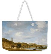 The Beach At Egmond An Zee Weekender Tote Bag by Salomon van Ruysdael