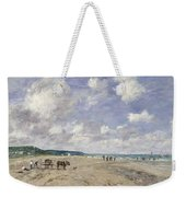 The Beach At Tourgeville Weekender Tote Bag by Eugene Louis Boudin
