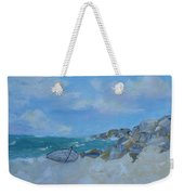 The Beached Boat Weekender Tote Bag