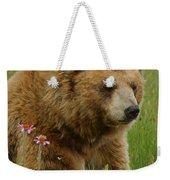 The Bear 1 Dry Brushed Weekender Tote Bag