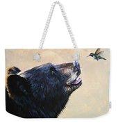 The Bear And The Hummingbird Weekender Tote Bag