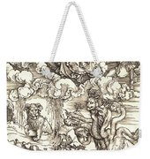 The Beast With Two Horns Like A Lamb Weekender Tote Bag