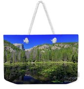 The Beautiful Nymph Lake With Reflection And Clear Water Weekender Tote Bag
