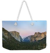The Beautiful Tunnel View Of Yosemite Weekender Tote Bag