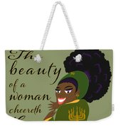 The Beauty Of A Woman Weekender Tote Bag