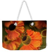 The Bee And The Helenium Weekender Tote Bag