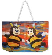 The Bees, Joey And Lilly Weekender Tote Bag