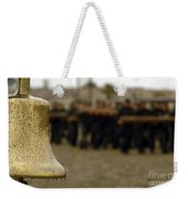 The Bell Is Present On The Beach Weekender Tote Bag
