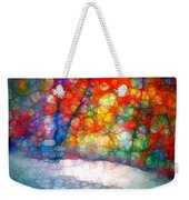 The Bench At First Snow Weekender Tote Bag