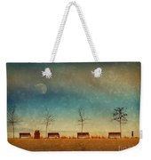 The Benches By The Moon Weekender Tote Bag