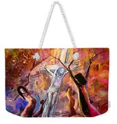 The Bible Crucifixion Weekender Tote Bag