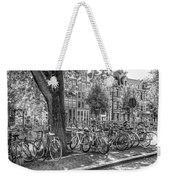 The Bicycles Of Amsterdam In Black And White Weekender Tote Bag