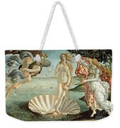 The Birth Of Venus Weekender Tote Bag by Sandro Botticelli