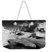 The Bisti Badlands - New Mexico - Black And White Weekender Tote Bag