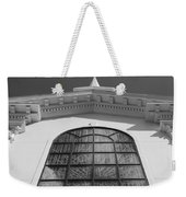 The Black And White Church Weekender Tote Bag