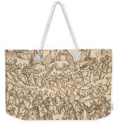 The Blessed In Paradise With The Virgin And St. John The Baptist Before God Weekender Tote Bag