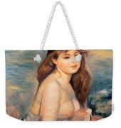 The Blonde Bather Weekender Tote Bag