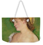 The Blonde With Bare Breasts Weekender Tote Bag