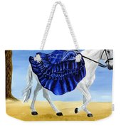 The Blue And The White - Princess Starliyah Riding Candis Weekender Tote Bag