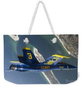 The Blue Angels Perform A Looping Weekender Tote Bag by Stocktrek Images