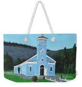 The Blue Church Weekender Tote Bag
