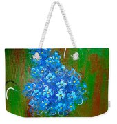 The Blue Flower Weekender Tote Bag