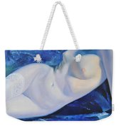 The Blue Ice Weekender Tote Bag