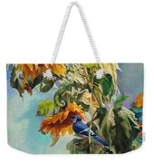 The Blue Jay Who Came To Breakfast Weekender Tote Bag