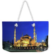 The Blue Mosque At Night Istanbul Turkey Weekender Tote Bag
