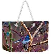 The Blue Of Winter In The Woods Weekender Tote Bag