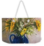 The Blue Pitcher Weekender Tote Bag