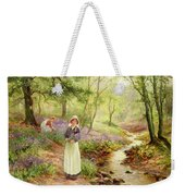 The Bluebell Glade Weekender Tote Bag by Ernest Walbourn