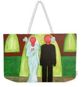 The Blushing Bride And Groom Weekender Tote Bag