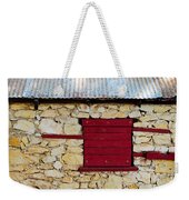The Boarded Red Window Weekender Tote Bag