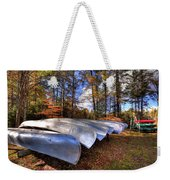 The Boats At Woodcraft Camp Weekender Tote Bag
