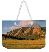 The Boulder Flatirons Weekender Tote Bag