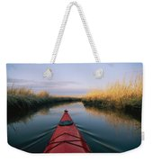 The Bow Of A Kayak Points The Way Weekender Tote Bag