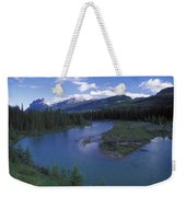 The Bow River And Castle Mountain Weekender Tote Bag