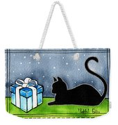 The Box Is Mine - Christmas Cat Weekender Tote Bag