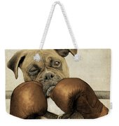 The Boxer Weekender Tote Bag by Eric Fan